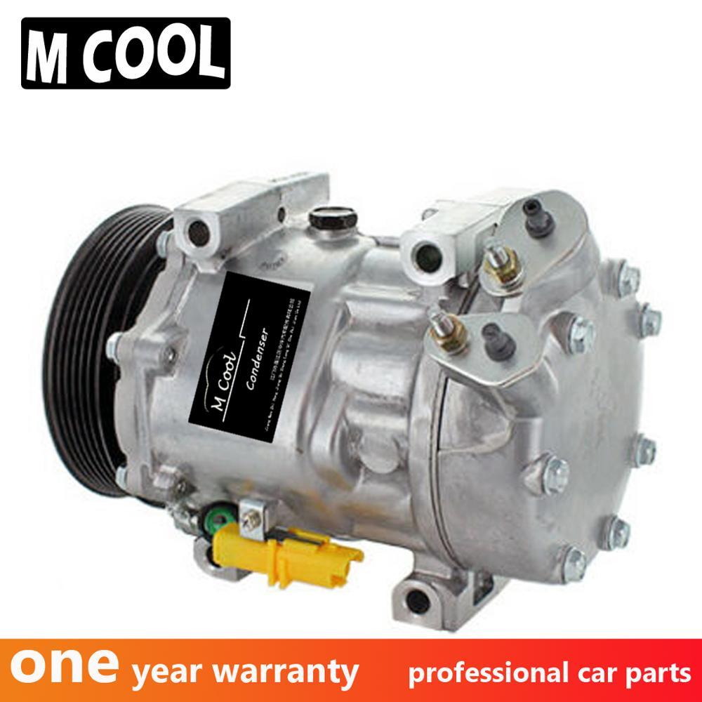 Sanden SD7V16 Air Conditioning Compressor For Fiat Scudo 220P 220L 272 1.6 2.0 8FK351128551 8FK351128051 71792087 9659232180