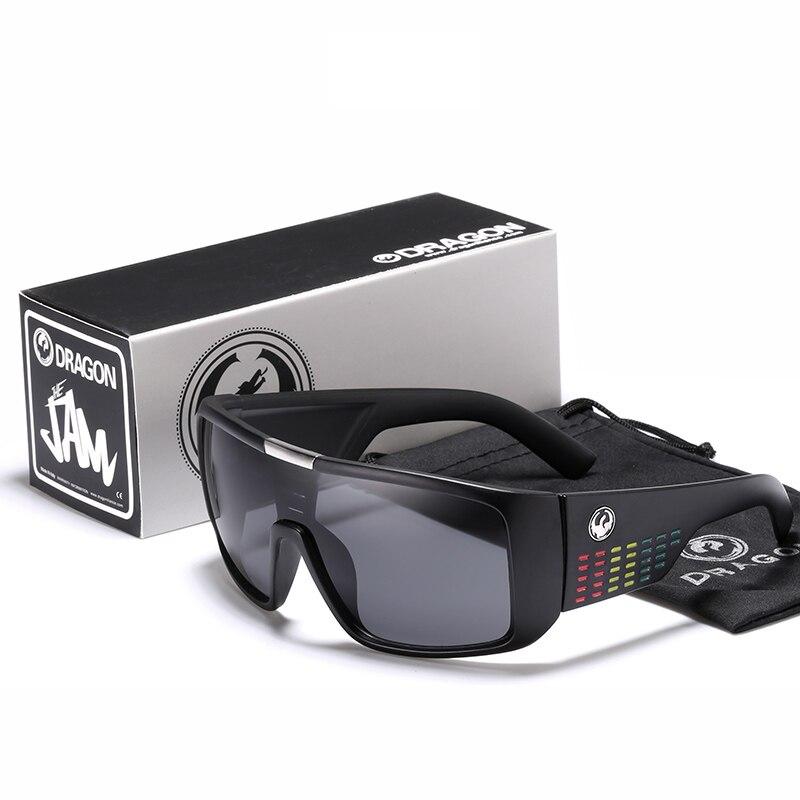 Dragon Windproof Shield Frame Reflective Coating Sunglasses Men Sport Goggle Eyewear Women Over size
