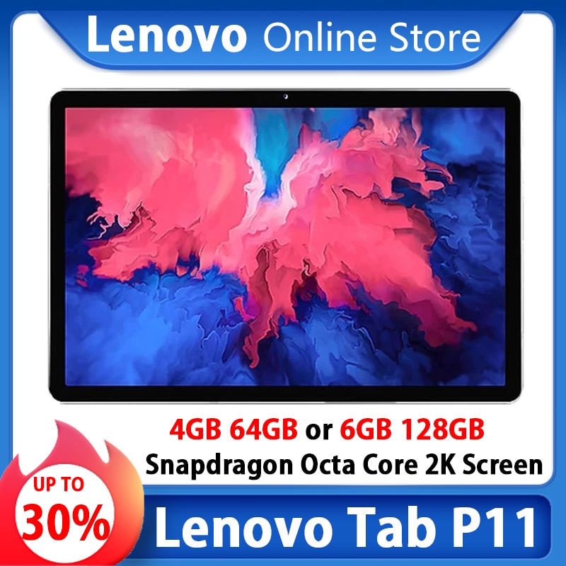 Global Firmware Lenovo Tab P11 Or Xiaoxin Pad 11 inch WIFI 2K LCD Screen Snapdragon Octa Core 6GB 128GB Tablet Android 10