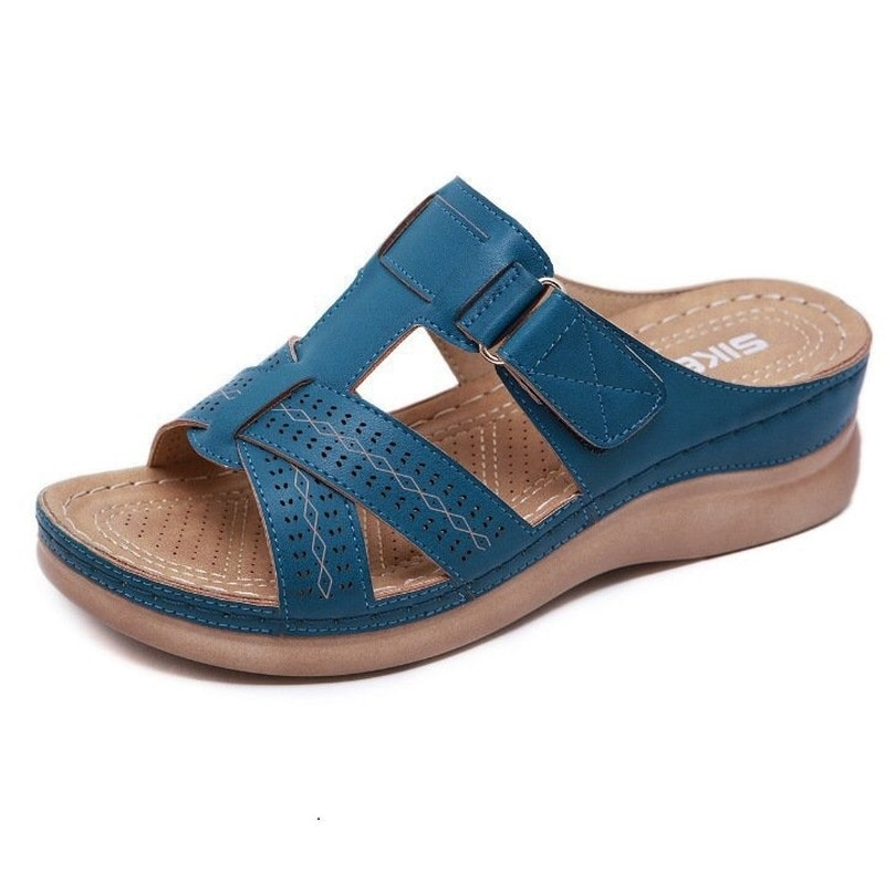 5 Color Summer New Plus Size 43 Slippers Women Casual Wedges Slides Fashion Platform Shoes Woman Outside Sandals for Women 2021