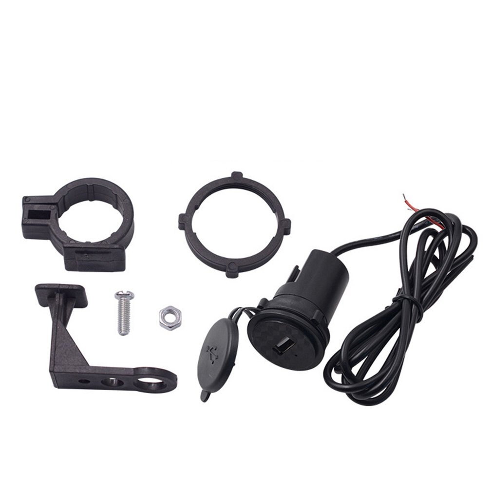 Cargador de teléfono móvil de la motocicleta 12V impermeable coche solo Usb con el interruptor modificado para motocicleta Accesorios