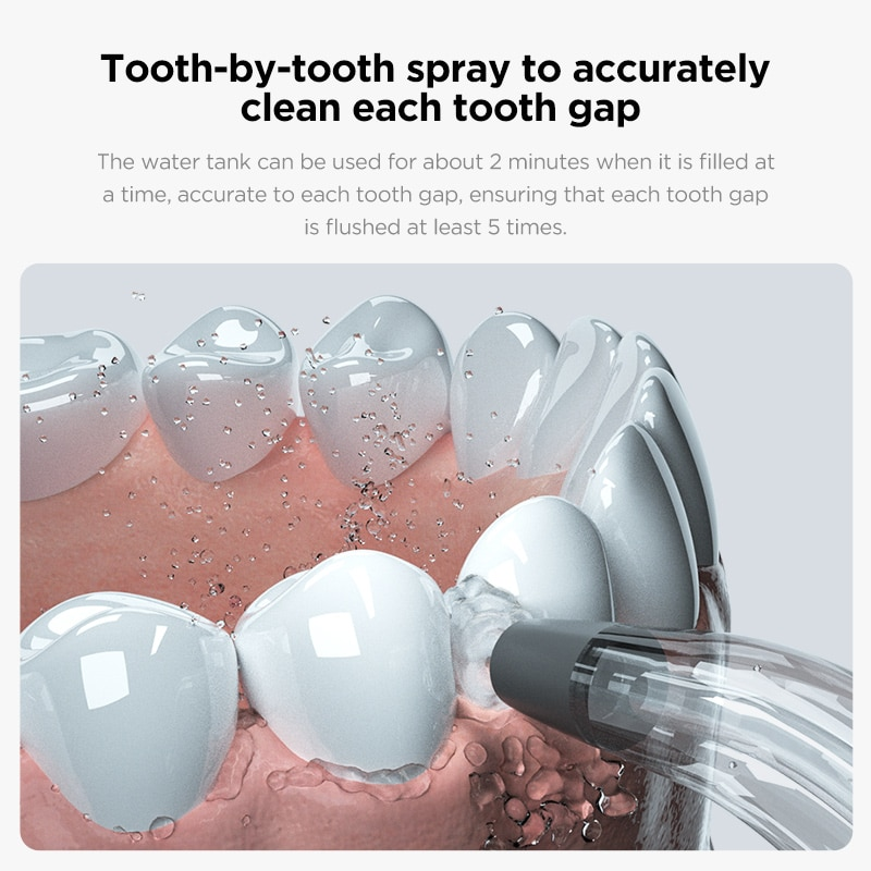 Oclean W1 Oral Irrigator Wireless Water Flosser Teeth Cleaner Rechargable Dental Water Jet 30ml Tank Volume Portable Travel enlarge