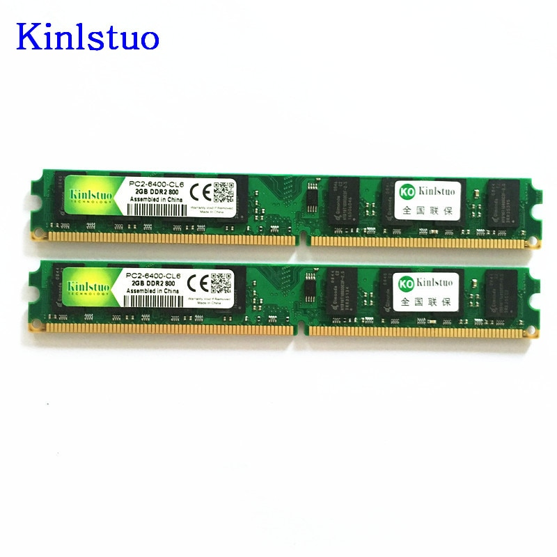1 Uds Kinlstuo Memoria de escritorio 2GB 800MHz PC2-6400 DDR2 PC RAM...