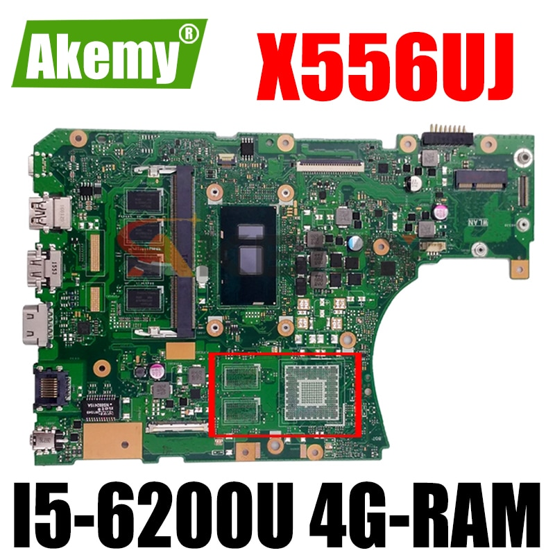 جديد!! X556UJ REV2.0 اللوحة لابتوب For Asus VivoBook X556UA X556UAM X556UAK X556UV اللوحة الأصلية 4G-RAM I5-6200U DDR3