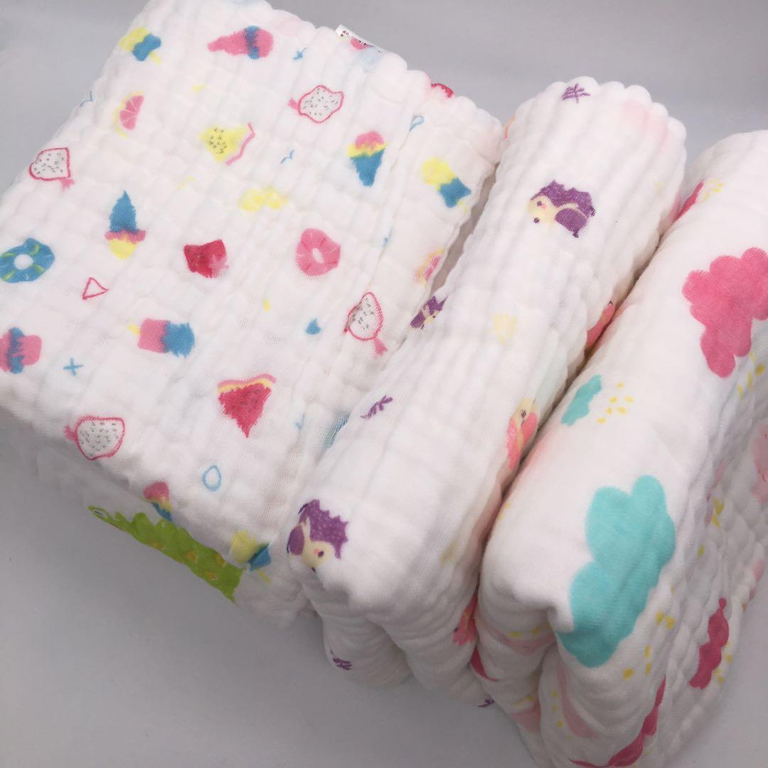 Manta de bebé de 6 capas, manta gruesa de algodón de muselina para recién nacido, manta de otoño para bebé