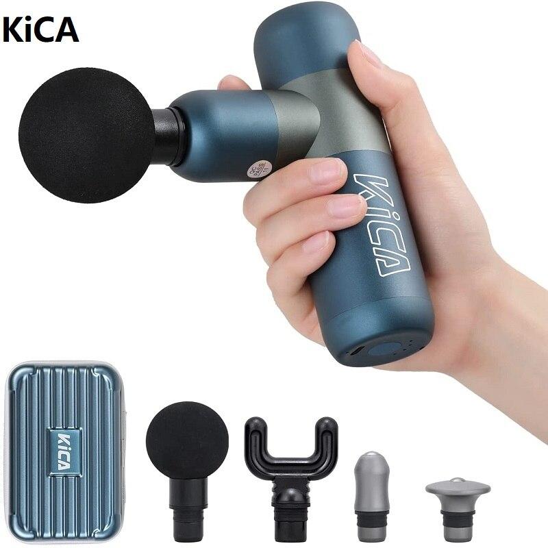 KiCA K2 الكهربائية تدليك بندقية صغيرة العضلات مدلك للجسم الظهر الرقبة الأنسجة العميقة قرع هزاز الاسترخاء لتخفيف الآلام التخسيس