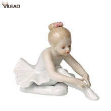 VILEAD céramique Ballet fille Figurines poupée chambre décoration de la maison accessoires salon chambre cadeaux créatifs jardin Figures