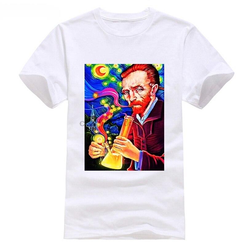 T SHIRT BONG WEED ELEVEN VINCENT VAN GOGH BONNIE CLYDE PARIS Sleeve T Shirt Summer Men Tee Tops Clothing