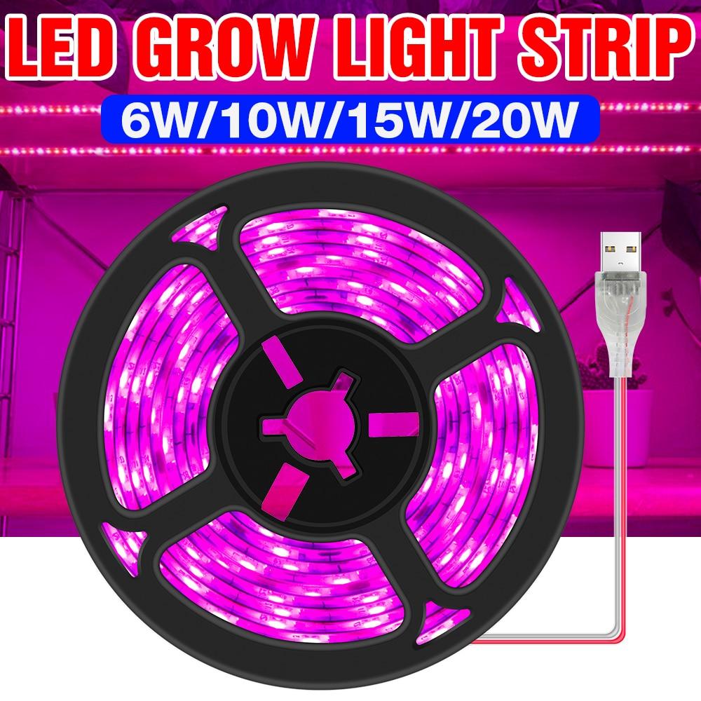 USB Wachsen Licht Streifen LED Gesamte Spektrum USB Phyto Lampe 5V Gewächshaus Hydrokultur 3M Wachsenden Box LED Pflanzen seed Blume Fitolampy
