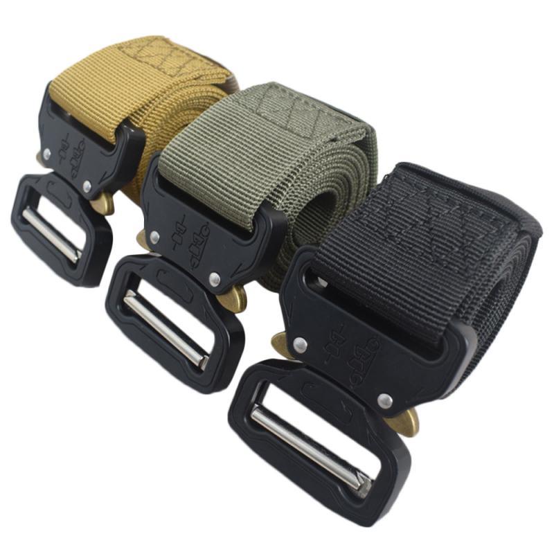 1 pçs homens multifuncionais rapel cinto de cinta de cinto de cintura cinto tático genuíno duro acessórios ao ar livre militar