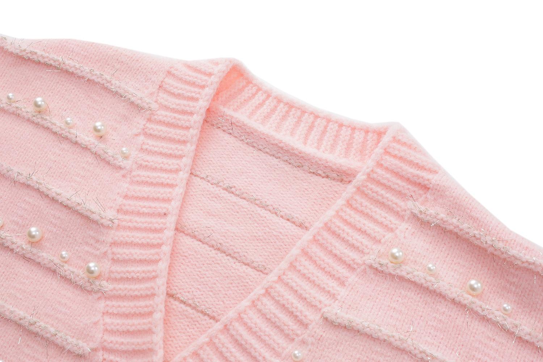 Winter  2021 Sweater Women Sweater White Pink  V  Neck Long Sleeve Fashion Cardigan  S ML enlarge