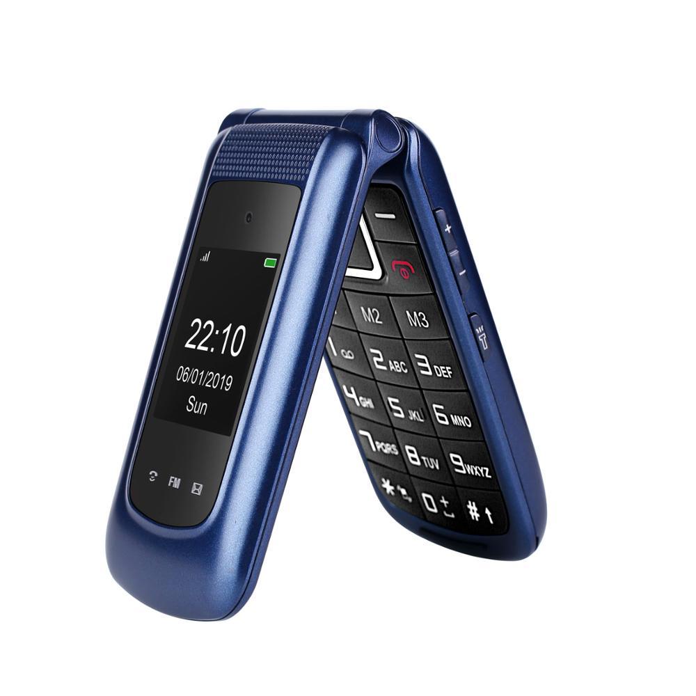 Ushining Uleway 3G Mobile Flip Phone for old senior Dual Screen Dual SIM Unlocked Senior Phones Big