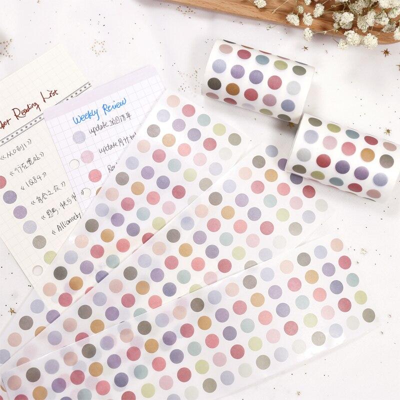 Morandi цветные наклейки декоративные Wahsi бумажные ленты основные этикетки Индекс стикер круглый резки ленты планировщик для скрапбукинга акс...