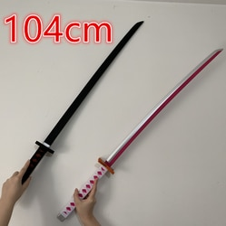 104cm cosplay espada ninja samurai adereços espada anime uma peça zoro sandai kitetsu modelo 11 espada 2 estilos
