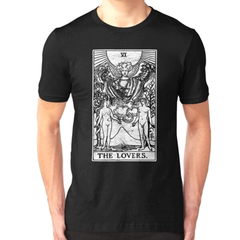 Camisa feminina masculina os amantes tarô cartão-major arcana-adivinhação-ocultismo (1)