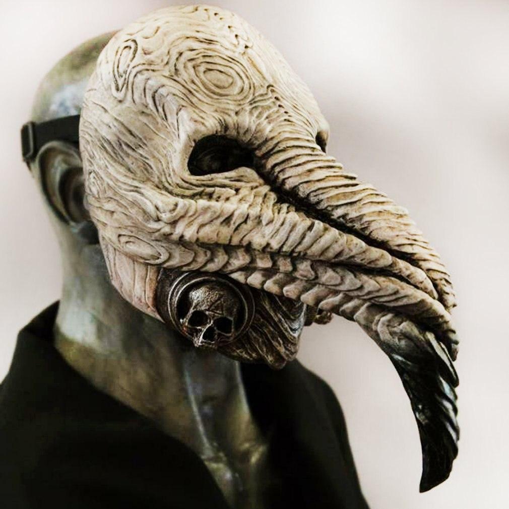 Маска Чумного доктора для Хэллоуина, маски для косплея аниме, реквизит для костюма в стиле стимпанк, латексные маски для женщин, маски для ли...