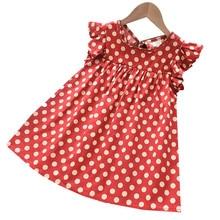 Baby Girls Clothing New Summer Princess Dresses Sweet Dot Print Round Collar Flying Sleeve Dress Boutique Girls loose Dress