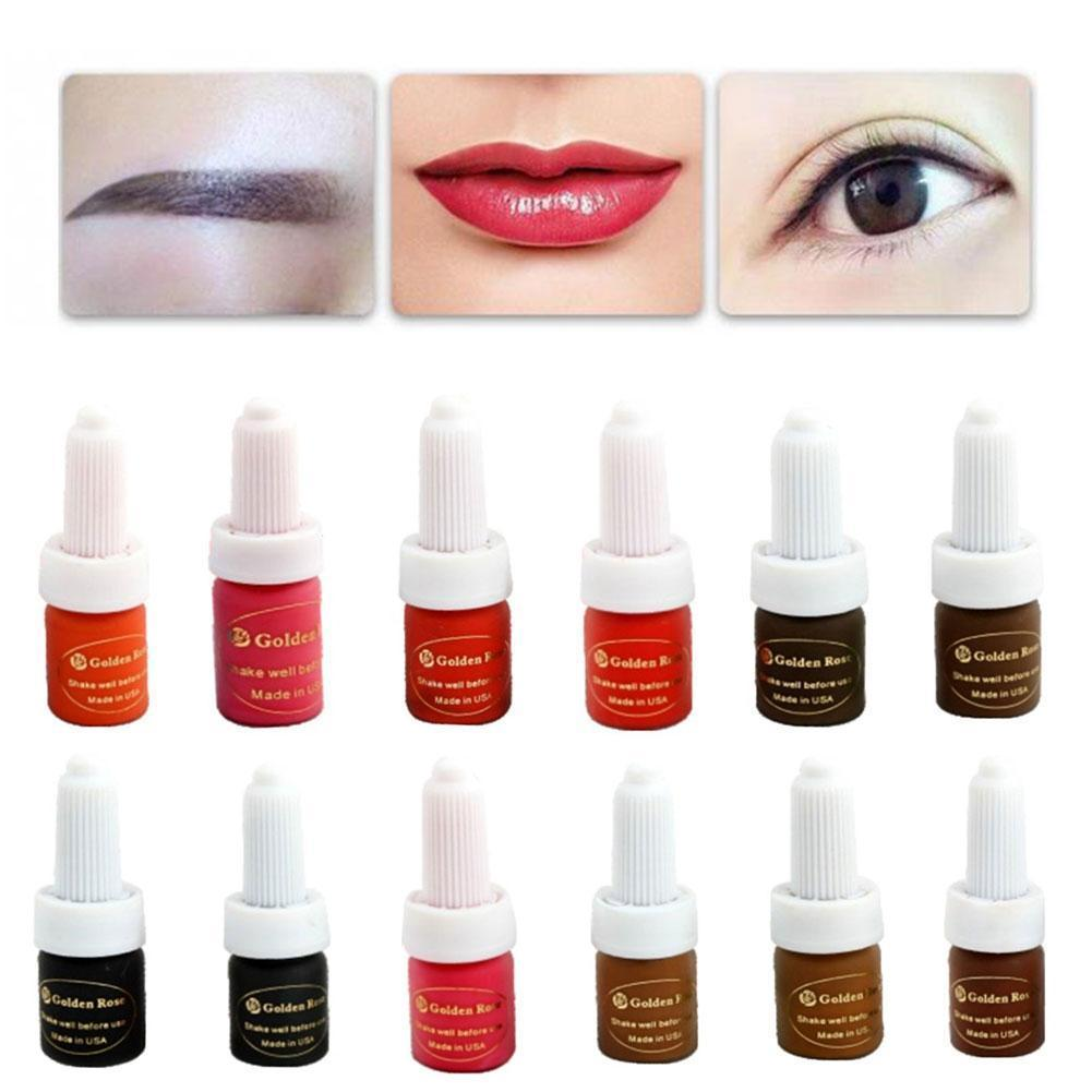 5ml Tattoo Ink Permanent Makeup Micro Pigment Cosmetic Color Eyebrow For Microblading Liner Lip R6U2 aimoosi top concentrated eyebrow micro pigment for permanent makeup tattoo eyebrow microblading pigment combination tattoo ink