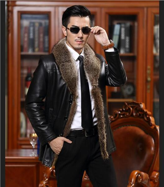 2020 الرجال معطف جلد طبيعي s الصوف طوق الأغنام جاكيتات الشتاء الرجال جلد الغنم معطف جلد عالية الجودة حجم كبير M-5XL