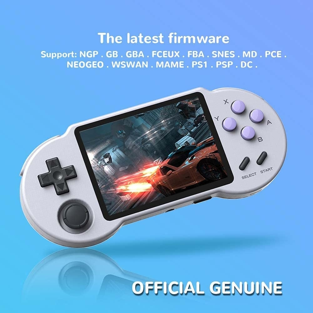 Retro video game console, 32 / 64 / 128G TF Card portable game console, 3.5-inch screen game console, suitable for NES / GB / enlarge