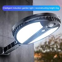 Solar Lights Round LED Human Body Induction Outdoor Waterproof Wall Lights Courtyard Wall Road Lighting Street Lights