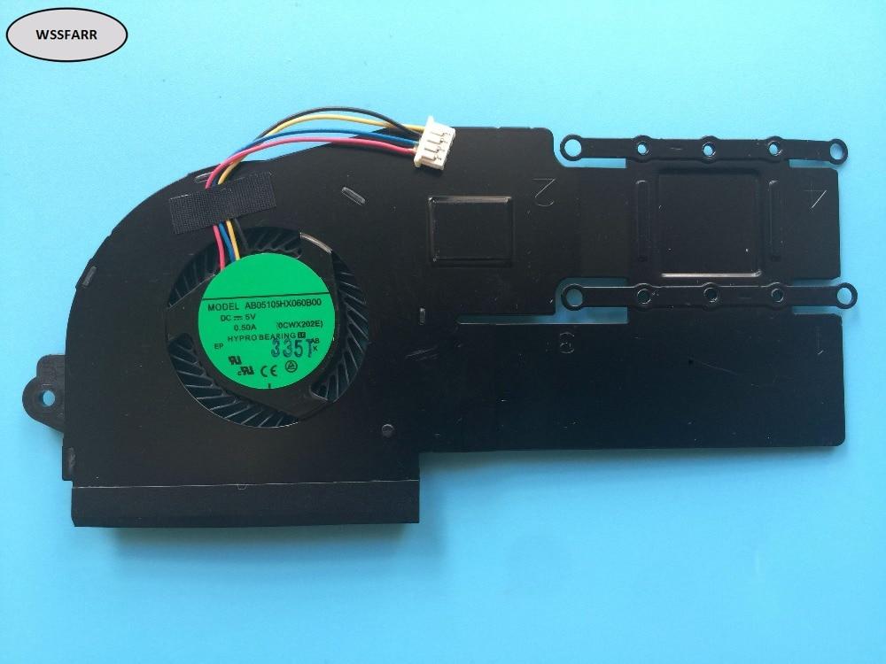 Original para ASUS VivoBook S200E X201E X202E portátil disipador de calor ventilador de la cpu