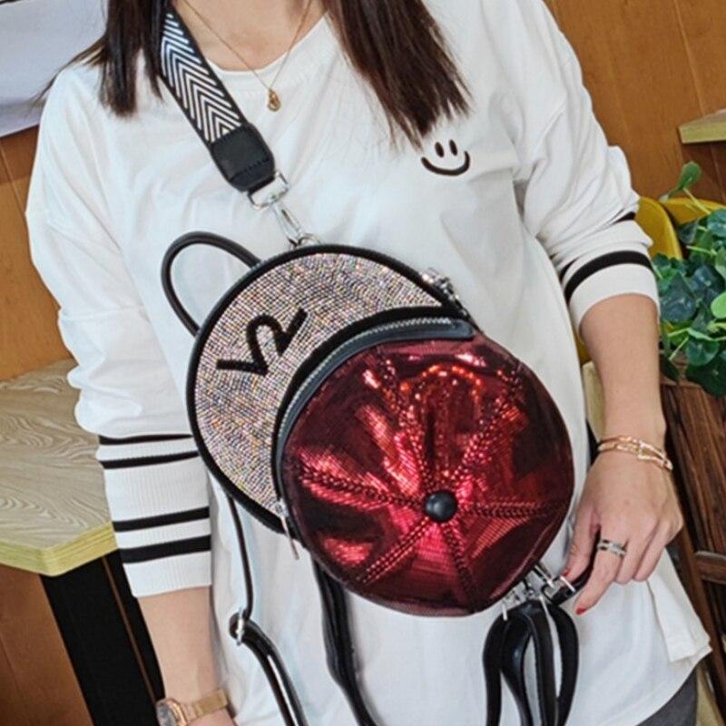 Backpack Women Shoulder Bags New Rhinestone Hat Shape Bolsa Feminina Ita Bag Shoulder Mini Designer Mochila