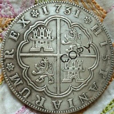 1731 España 8 Reales copia monedas