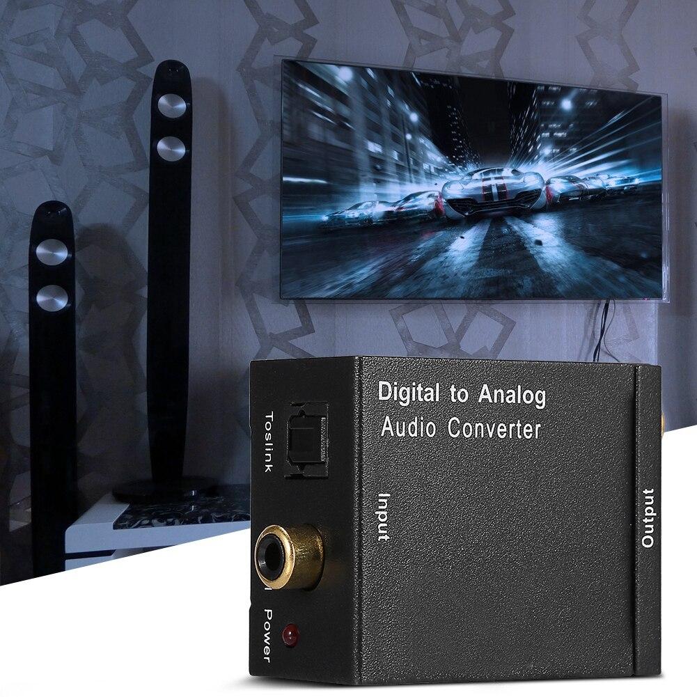 Conversor De Audio Digital Optico un Analogico Coaxial Adaptador RCA Convertidor