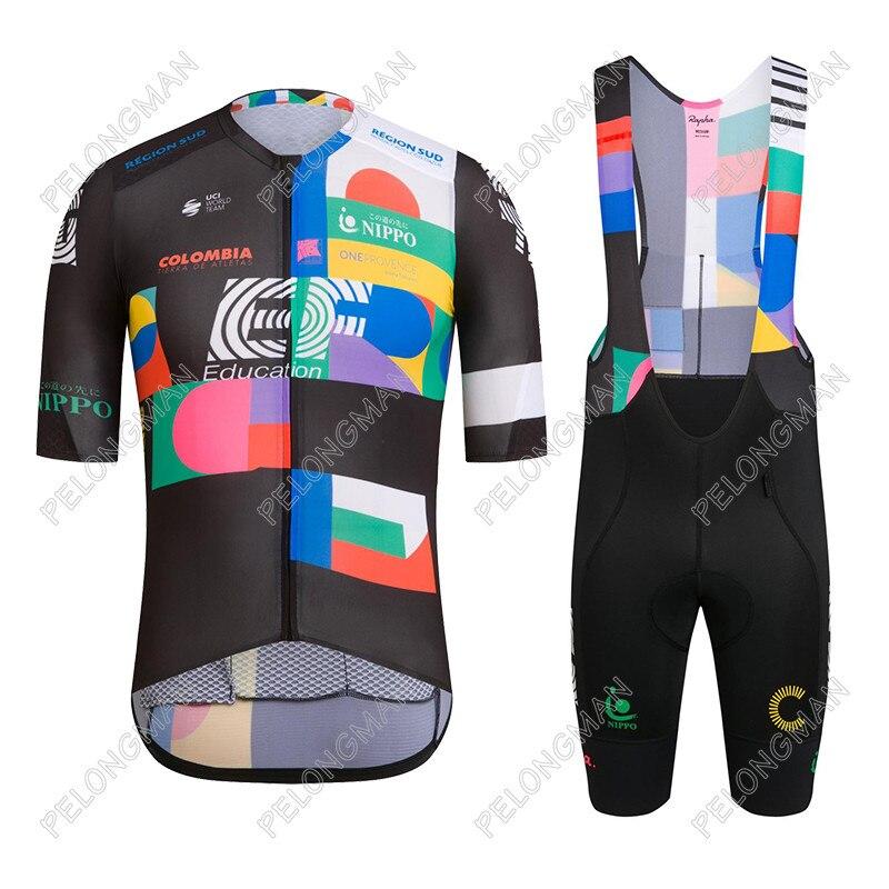 Conjunto De Ropa De Ciclismo del equipo EF, Maillot y pantalones cortos...