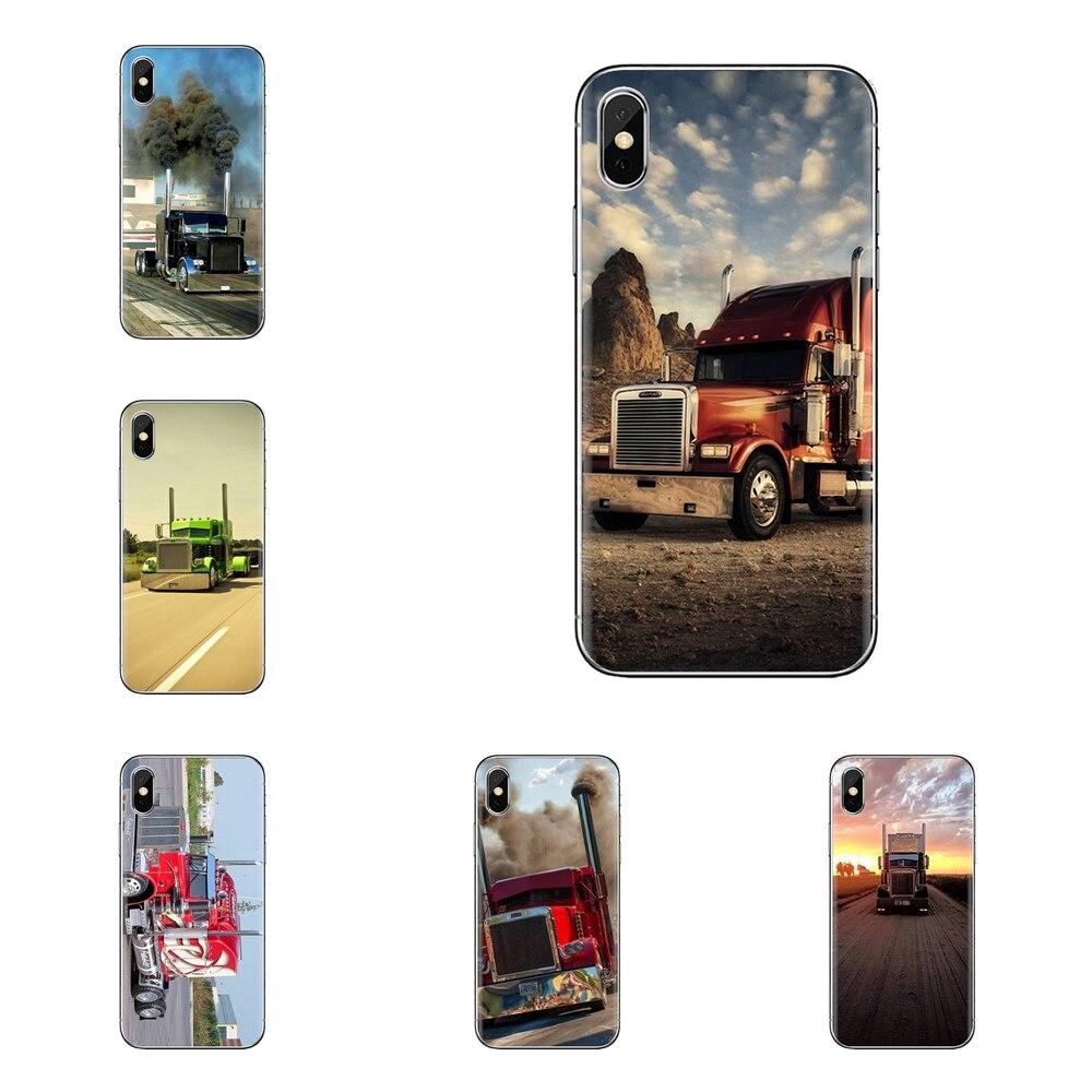 Fundas transparentes suaves para el coche de la carga del emblema de los camiones de Peter bilt para iPod Touch Apple iPhone 4 4S 5 5S SE 5C 6 6 6S 7 8 X XR XS Plus.