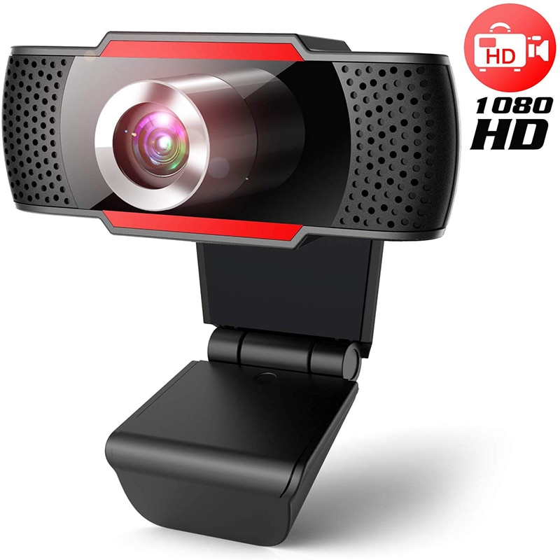 Minicámara Web HD 1080P, ordenador PC, cámara web con micrófono giratorio para transmisión en vivo, vídeo, compatible con MAC, Windows y Android