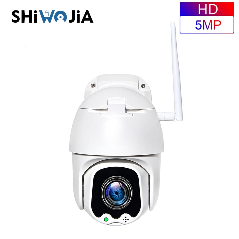 SHIWOJIA-cámara IP inteligente Digital para exteriores, impermeable, 5MP, PTZ, WiFi, inalámbrica, 4X,...