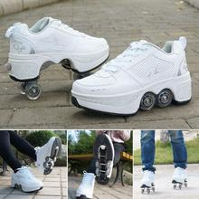 Four-wheeled Heavy-duty Hiking Shoes For Adults And Children Roller Skates Multifunctional Deformed