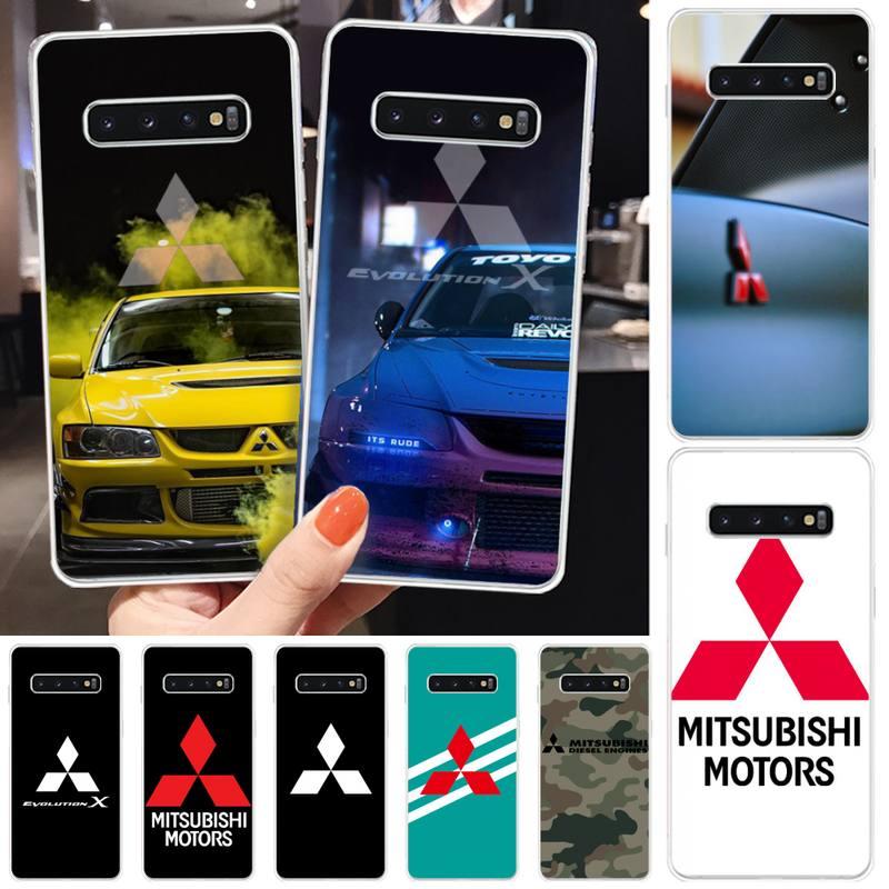 Funda transparente para teléfono Samsung, carcasa lujosa de marca para Mitsubishi Motors,...