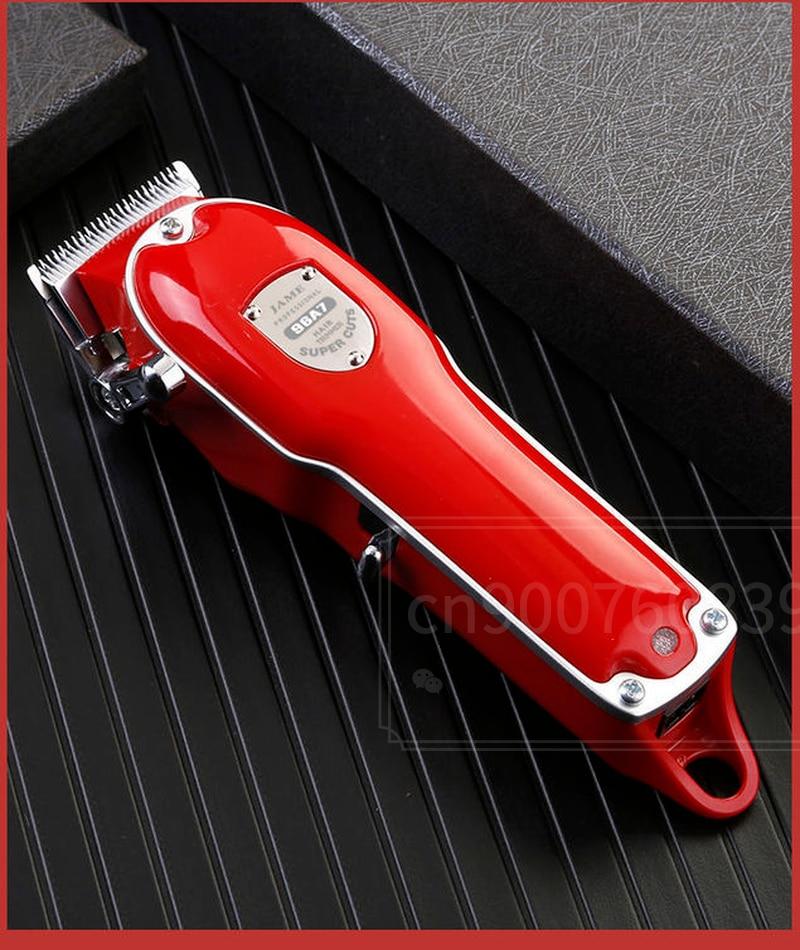 Red Metal Barbershop Cutter Hair Cutting Machine Haircut Cordless Hair Clipper Hair Trimmer Pop Barbers 110-240v enlarge