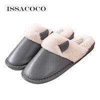 new mens winter casual home slippers warm cotton slippers house man child indoor rubber slipper female winter slippers with fur