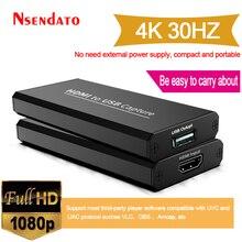 USB 2,0-captura de vídeo 1080P, 4K, HDMI a USB 2,0, tarjeta de juego, retransmisión de vídeo, grabación en directo para XBOX PS4 de clase Net