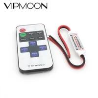 dc 5v 12v 24v led strip controller mini dimmer rf remote 11key controller for led 5050 2835 strip single color light