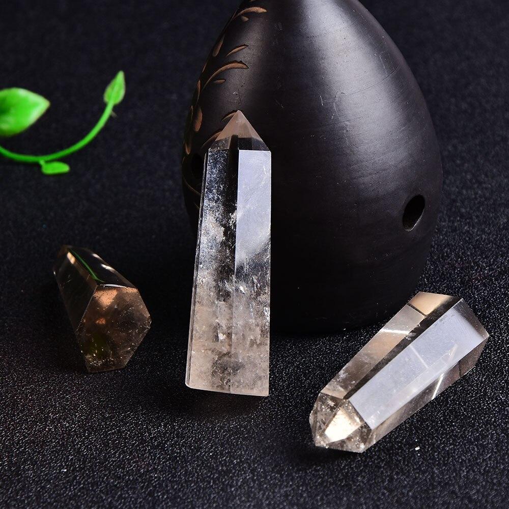 Prismas hexagonales de piedra de cuarzo Natural para tratamiento de varitas de obelisco de 60-80mm, piedra de tratamiento DIY, 1 pieza