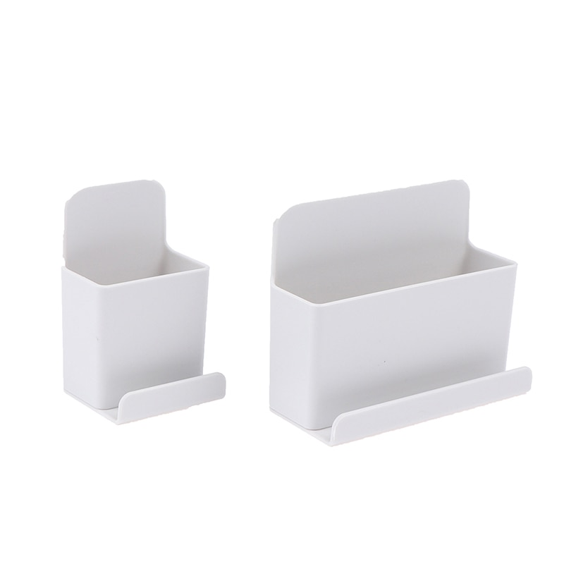 Wall Mounted Organizer Storage Box Remote Control Air Conditioner Storage Case Mobile Phone Plug Holder Stand Container