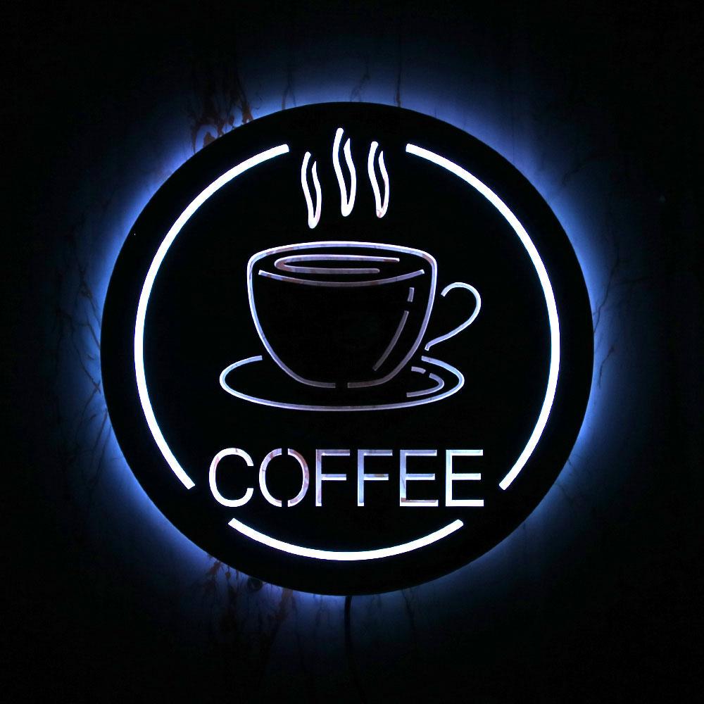 مقهى متجر LED الإضاءة تسجيل مرآة حائط ديكور المنزل مقهى منزل الجدة جدار أضواء الأعمال علامة