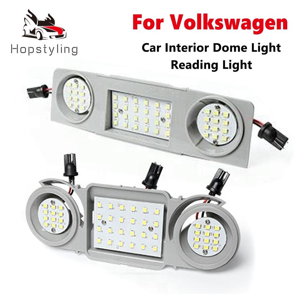 LED Interior del coche cúpula luces de techo para VW Golf Passat...