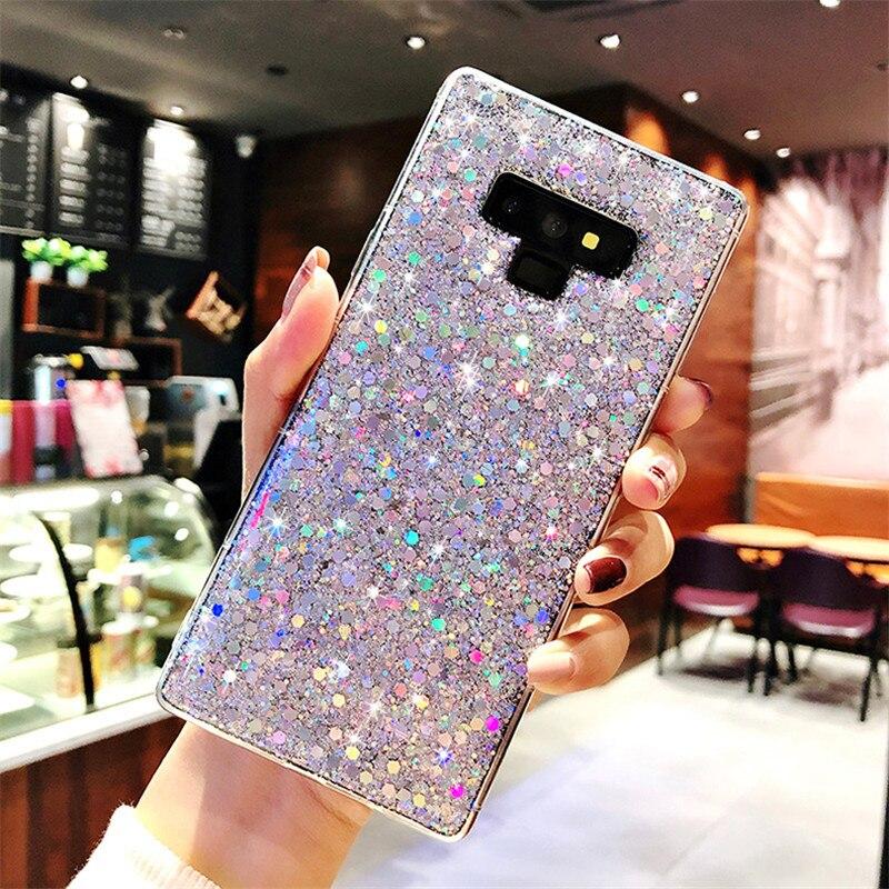 Brillante Bling TPU caso para Samsung Galaxy A30 A10 A3 A5 J3 J5 J7 primer 2017 A7 A6 A8 A9 J6 2018 S8 S9 S10 Plus Nota 9