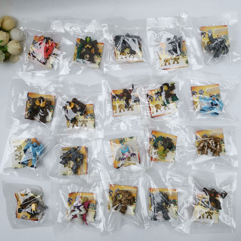 50 unids/lote mini Original Gormitis anime figura naturaleza elemento héroe monstruo modelo regalo limitado oro raro plata coleccionable juguete