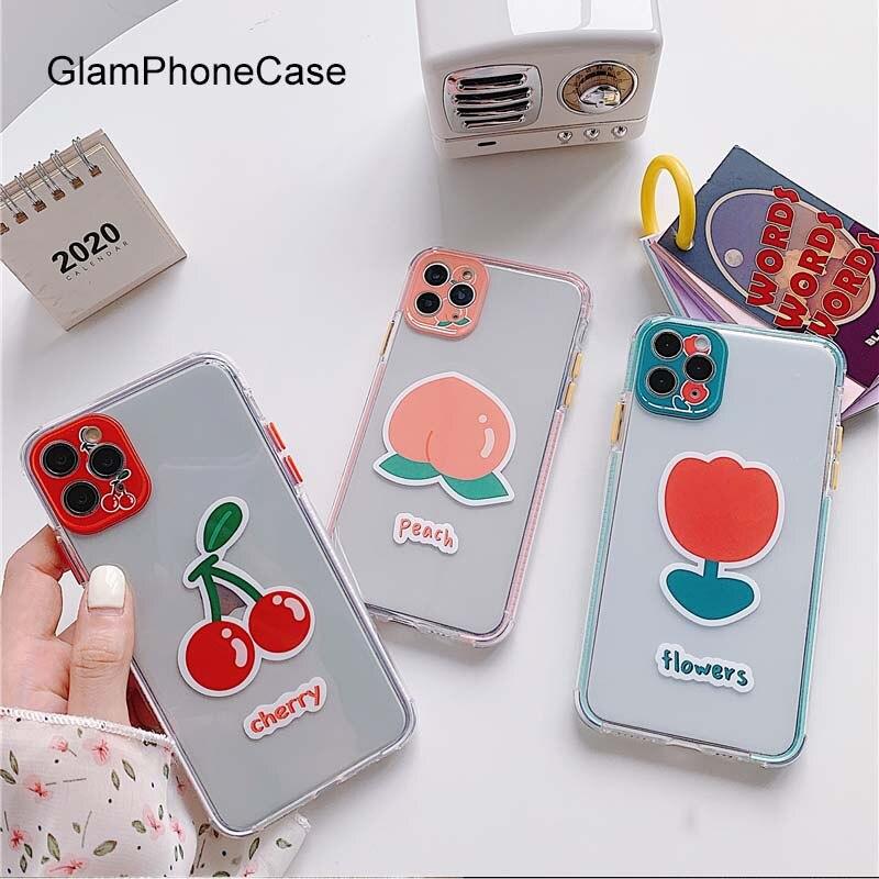GlamPhoneCase cereza flor teléfono caso para iPhoneSE 2 11Pro/Max X XS X Max XR cubierta suave de silicona para iPhone11 7 8Plus caso