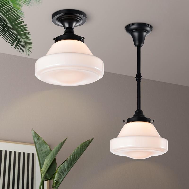 Стекло подвесной светильник для Спальня Кухня кабинет Потолочная люстра черный промышленный подвесной светильник Nordic лампы Освещение в по...