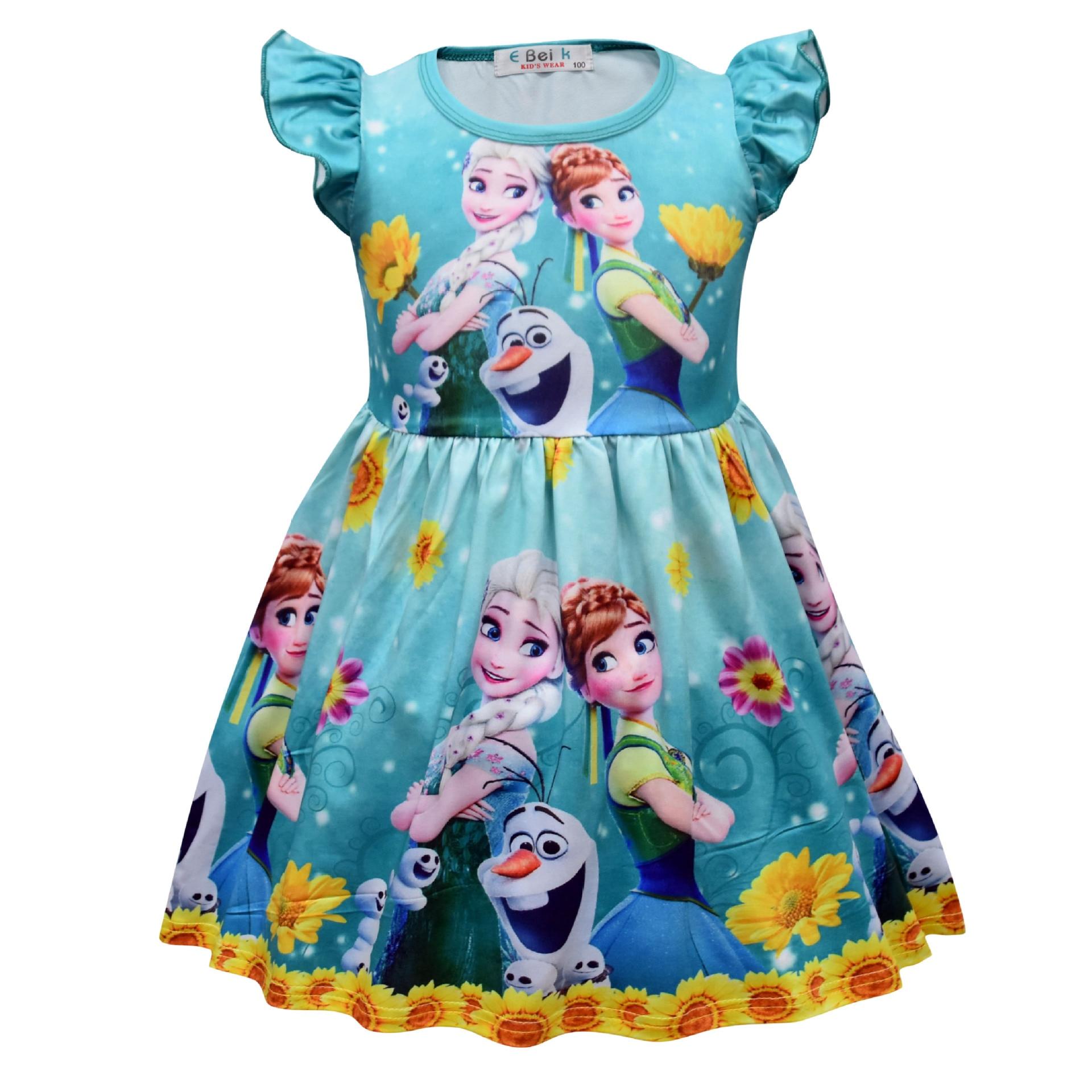 Vestido de princesa Twirl girasol Anna Aisha vestido de princesa niñas aleteo manga vestido de seda color leche Boutique verano fiesta Niñas Ropa