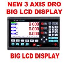 Nouveau grand écran Lcd Dro 3 axes Dro Set avec 3 lignes optiques course de travail 50mm à 1000mm pour fraisage des Machines de tour livraison gratuite