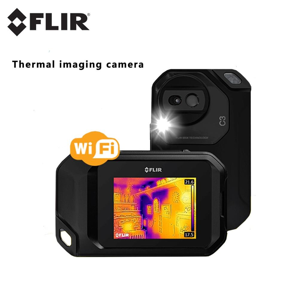 FLIR C5 C3-X أفضل أداة فحص التصوير الحراري سخان انبوب ماء كاشف درجة الحرارة واي فاي جهاز تصوير حراري صغير بالأشعة تحت الحمراء